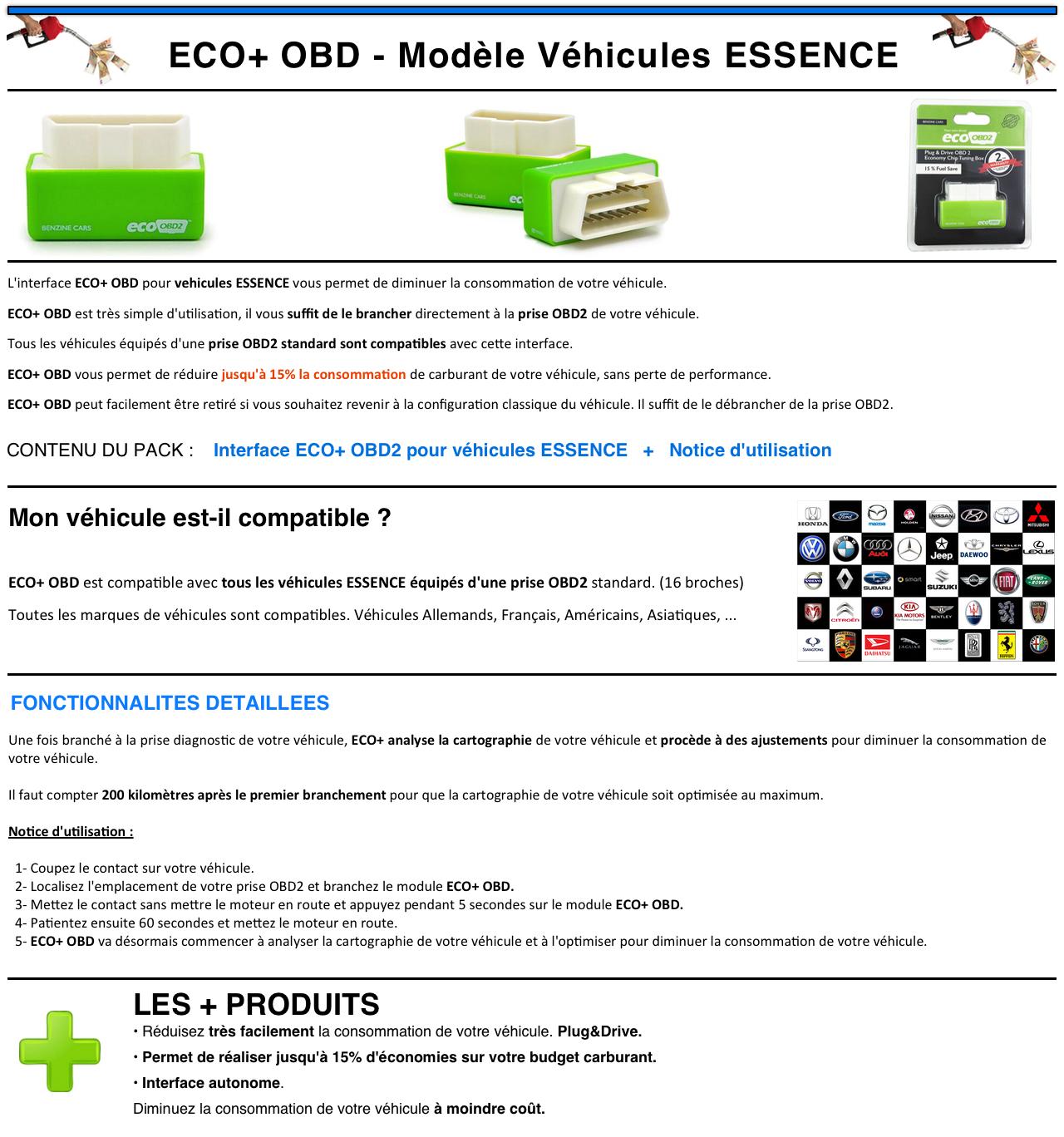 kit ethanol sur prise diagnostic