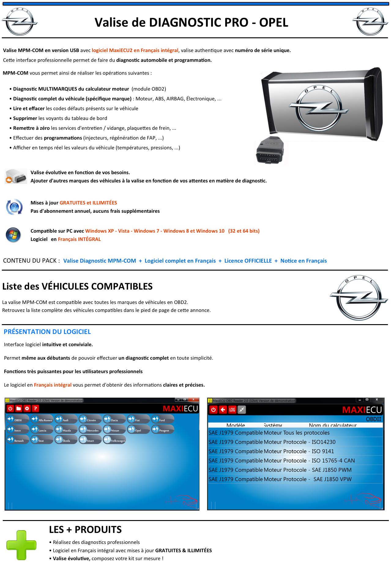 valise de diagnostic programmations pro opel autocom op delphi elm com kts ebay. Black Bedroom Furniture Sets. Home Design Ideas