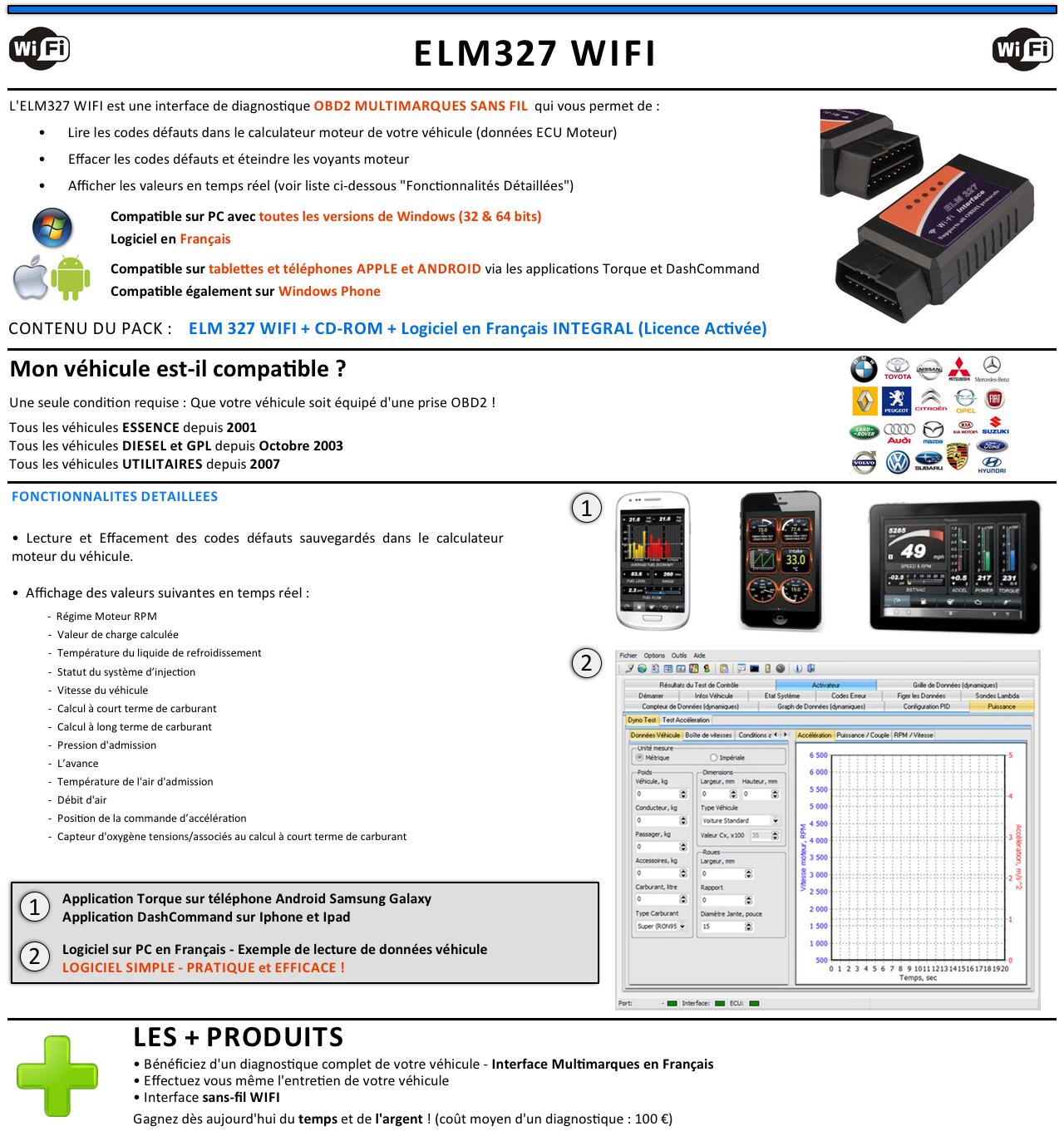 elm 327 wifi logiciel francais obd2 interface diagnostique obdii elm327 wi fi fr ebay. Black Bedroom Furniture Sets. Home Design Ideas